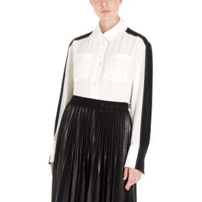 GIVENCHY/ジバンシィ White/Black Bicolor crepe de chine shirt レディース 秋冬2019 BW60FZ10JX004 ju