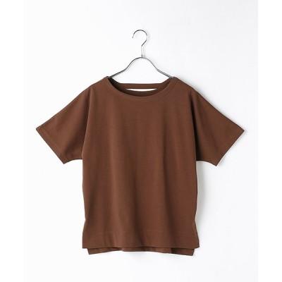 【コムサイズム】 フレンチスリーブ Tシャツ レディース ブラウン M COMME CA ISM
