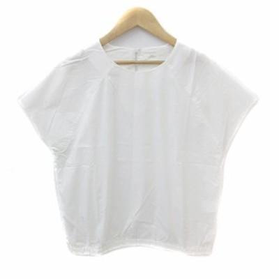 【中古】アーバンリサーチ items ブラウス カットソー ラウンドネック 半袖 薄手 F 白 ホワイト /NS5 レディース