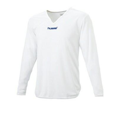 ◆◆送料無料 メール便発送 <ヒュンメル> HUMMEL HJP5140 ジュニアL/Sインナーシャツ(10:ホワイト) ヒュンメル アンダー(インナー)シャツ(hjp5140-10-mkn-h