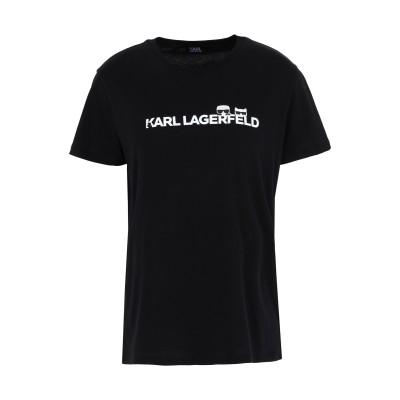 カールラガーフェルド KARL LAGERFELD T シャツ ブラック XS コットン 100% T シャツ