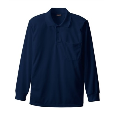 SOWA 50390 長袖ポロシャツ(胸ポケット) ポロシャツ, Tops