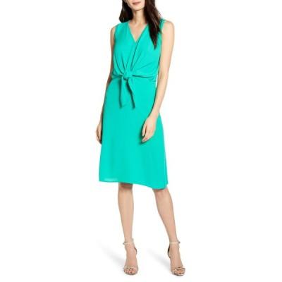 チェルシー28 ワンピース トップス レディース Sleeveless Tie Front Dress Green Emerald