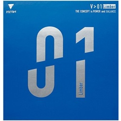 ヴィクタス(VICTAS) 卓球 ラバー V01 リンバー 裏ソフト テンション ブラック 2.0 20341