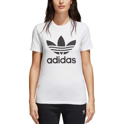 アディダス adidas レディース サッカー Tシャツ トップス Originals Trefoil T-Shirt White