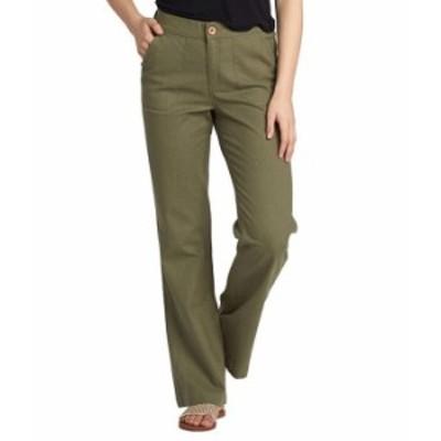 ロキシー レディース カジュアルパンツ ボトムス Oceanside High-Waisted Pants Vineyard Green