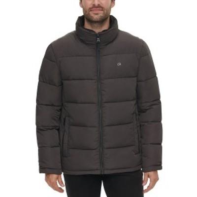 カルバンクライン メンズ ジャケット&ブルゾン アウター Men's Full-Zip Puffer Coat, Created for Macy's Alloy Grey
