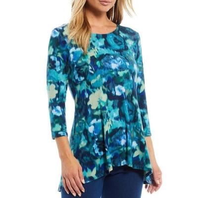 イントロ レディース Tシャツ トップス Capri Breeze Blurred Floral Print The Legging Tee Capri Breeze Blurred Floral Print