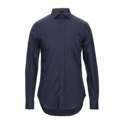 アルマーニ コレッツィオーニ ARMANI COLLEZIONI シャツ ダークブルー 39 コットン 100% シャツ