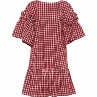 フェンディ Fendi レディース ワンピース ワンピース・ドレス Checked cotton dress Jelly