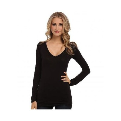 LAmade エルエーメイド レディース 女性用 ファッション Tシャツ Fitted V-Neck Tee - Black