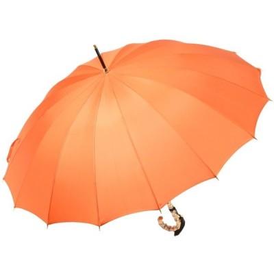 前原光榮商店製 軽くて丈夫なカーボン骨 レディース無地16本骨雨傘 TRAD-16-Carbon(オレンジ) 前原傘 皇室御用達前原光栄商店 かさ 女