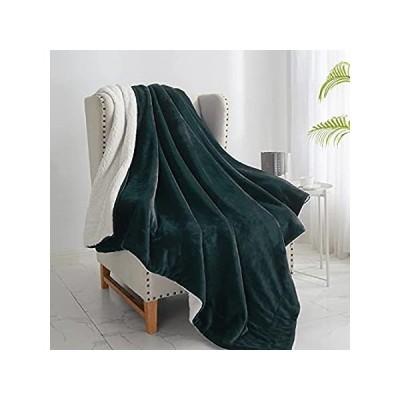 """特別価格Walensee Sherpa Fleece Blanket (Throw Size 50""""x60"""" Forest Green) Plush Thro好評販売中"""