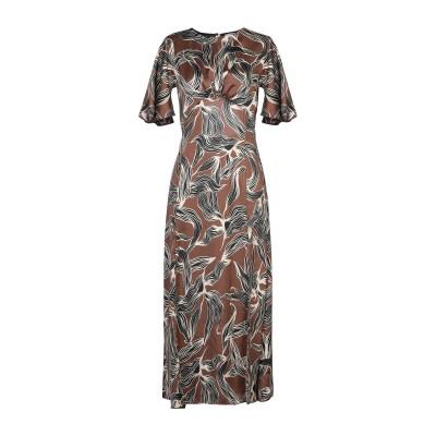 VICOLO ロングワンピース&ドレス ブラウン S ポリエステル 100% ロングワンピース&ドレス