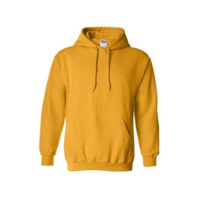 (ギルダン) Gildan ユニセックス ヘビーブレンド パーカー プルオーバー スウェットシャツ トレーナー (XL) (ゴールド)