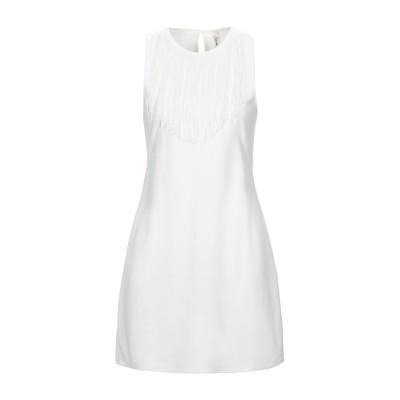 スーベニア SOUVENIR ミニワンピース&ドレス ホワイト M レーヨン 60% / ナイロン 35% / ポリウレタン 5% ミニワンピース&