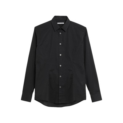 グレイ ダニエレ アレッサンドリーニ GREY DANIELE ALESSANDRINI シャツ ブラック 41 コットン 97% / ポリウレタン