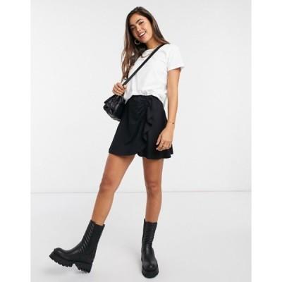 エイソス レディース スカート ボトムス ASOS DESIGN mini skirt with ruched detail in black