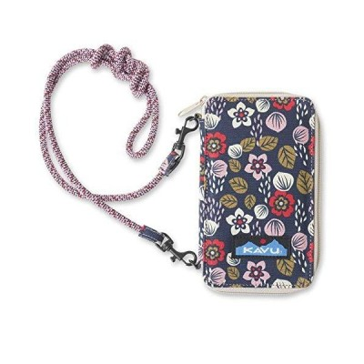 KAVU Go Time Bi-Fold Clutch Wallet with Crossbody Rope Strap - Sakura Fall
