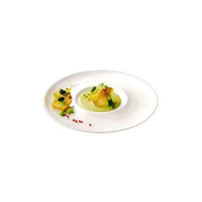 ディナー皿 28cm 白菫 6枚 カネスズ オアシス (8155405) キッチン、台所用品