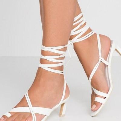 レディース サンダル ALL MINE HEEL - Sandals - white
