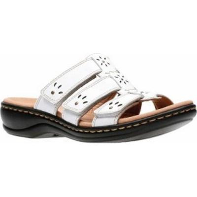 クラークス レディース サンダル シューズ Women's Clarks Leisa Spring Strappy Sandal White Full Grain Leather