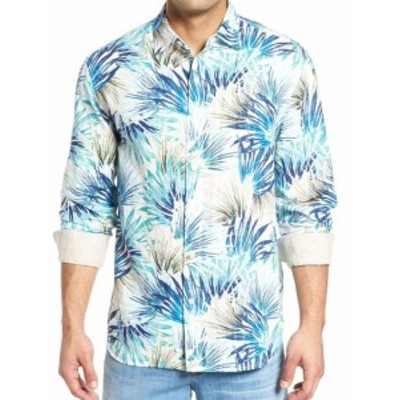 Tommy Bahama トミーバハマ ファッション アウター Tommy Bahama NEW Blue Mens Size 3XL Button Down Leaf Print Shirt