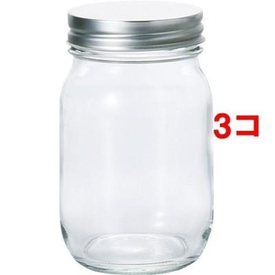 保存瓶 銀キャップ 475mL 日本製 (1コ入*3コセット)