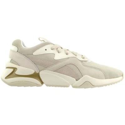 プーマ レディース スニーカー シューズ Nova Pastel Grunge Lace Up Sneakers Whisper White / Whisper White