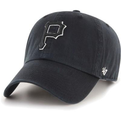 フォーティセブン 47 メンズ キャップ 帽子 Pittsburgh Pirates Black Clean Up Adjustable Hat