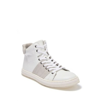 バッジェリーミシュカ メンズ スニーカー シューズ Teddy Leather & Suede Mid Sneaker  WHITE