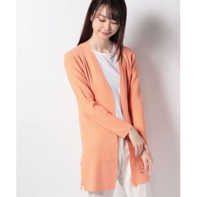 JOCONDE ROYAL/ジョコンダロイヤル リブ編み ニットカーディガン オレンジ 38