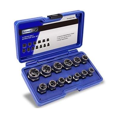 送料無料 Impact Bolt & Nut Remover Set, 13 Pieces Bolt Extractor Tool Set with Solid Storage Case, Easy to Remove the Rusty and Stubborn
