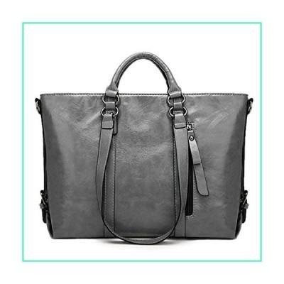 Women Fashion Minimalist Handbag Leisure Business Shoulder Bag Tote Bag Grey 13.78''(L) x 4.72''(W) x 10.63''(H)並行輸入品