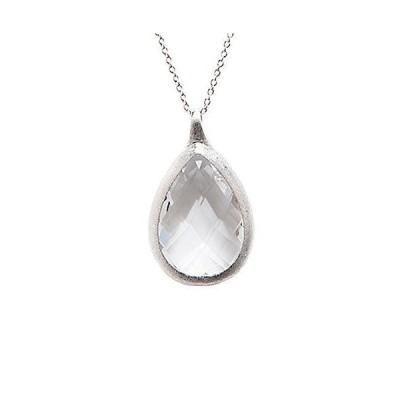 レディース アクセサリー  Rivka Friedman White Rhodium Clad Crystal 36in Necklace