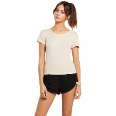 ボルコム レディース シャツ トップス Lil Thermal Short Sleeve T-Shirt Sand