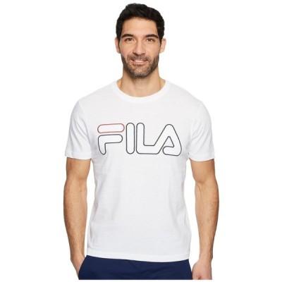 フィラ Fila メンズ Tシャツ トップス Borough T-Shirt White/Black/Red