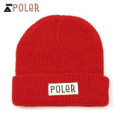 ポーラー POLER 正規販売店 帽子 ビーニー WORKERMAN BEANIE 55100058-RED RED