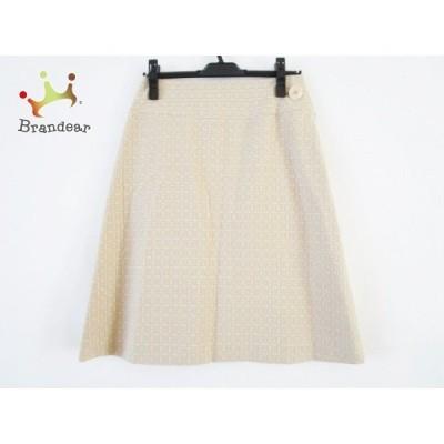サリースコット Sally Scott スカート サイズ9 M レディース 美品 - ベージュ ひざ丈 新着 20201021
