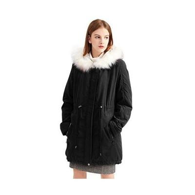 Sulliwayu レディース モッズコート 冬 アウター コート ジャケット 裏起毛 ミリタリーコート 中綿コート フード付き カジュアル