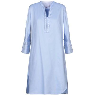 LE SARTE PETTEGOLE ミニワンピース&ドレス アジュールブルー 42 コットン 97% / ポリウレタン 3% ミニワンピース&ドレス