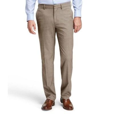 ジョンストンアンドマーフィー メンズ カジュアルパンツ ボトムス Non-Iron Flat-Front Dress Pants Taupe