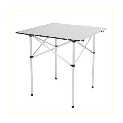 Zdmathe Folding Camping Table, Portable Picnic Table, Aluminium Patio Table, Roll Up Tabletop with Carrying Bag, Outdoor Compact Table for H