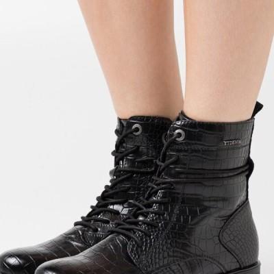 トム テイラー レディース 靴 シューズ Lace-up ankle boots - black