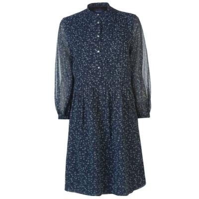 ガント Gant レディース ワンピース ワンピース・ドレス Chiffon Patterned Dress BLUE