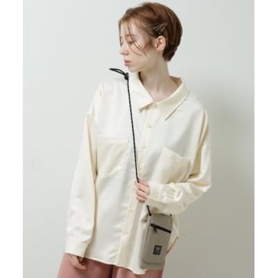 【ダブルネーム/DOUBLE NAME】 サテンとろみシャツ