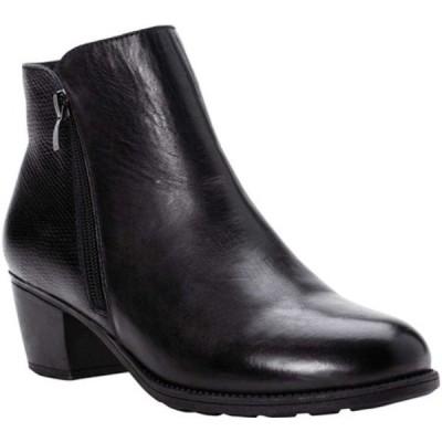 プロペット レディース ブーツ&レインブーツ シューズ Tobey Ankle Bootie Black Full Grain Leather