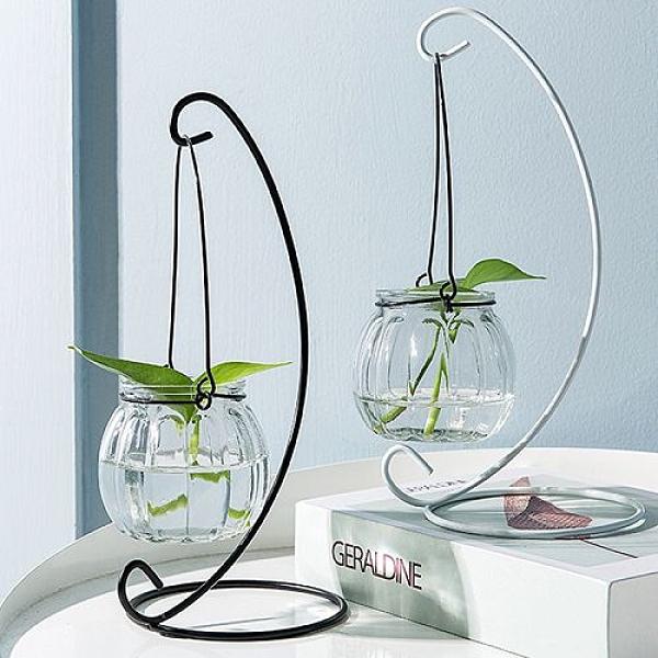 小清新懸掛玻璃花瓶 創意透明裝飾瓶 水耕植物花瓶