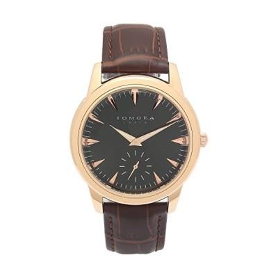 トモラ トウキョウ(Tomora Tokyo) 腕時計 ブラック×ピンクゴールド サイズ:[ケース]約H5cmxW4.1cmxD0.9cm※ケースサイ