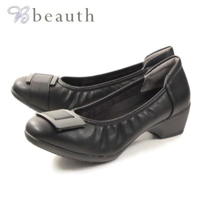 Beauth ビュース  パンプス  抗菌・防臭・軽量 バックルパンプス  bt605 BT605